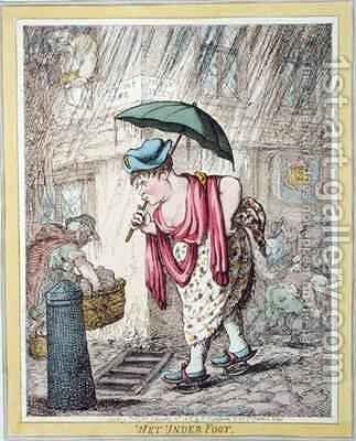 Wet Under Foot by James Gillray - Reproduction Oil Painting