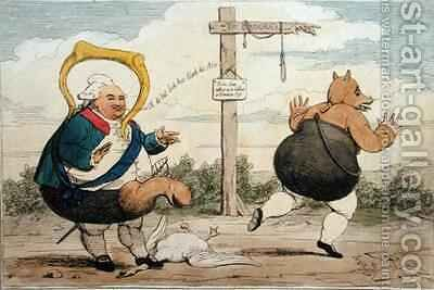The Kettle Hooting the Porridge Pot by James Gillray - Reproduction Oil Painting