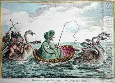 Venus a la Coquelle or The Swan Sea Venus by James Gillray - Reproduction Oil Painting