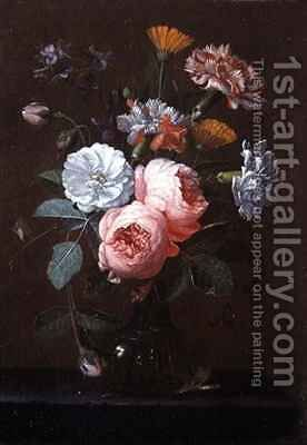Still Life of Roses Carnations and Other Flowers by Jan Pauwel II the Younger Gillemans - Reproduction Oil Painting