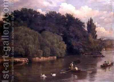 A River Scene in Kent by Arthur Gilbert - Reproduction Oil Painting