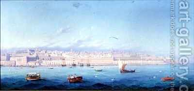 Grand Harbour Valletta Malta by Girolamo Gianni - Reproduction Oil Painting