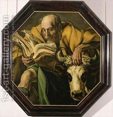 The Evangelist Luke by Jacob, III d Gheyn - Reproduction Oil Painting