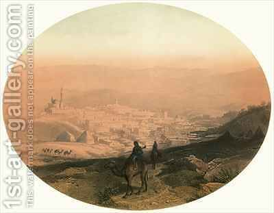 View of Nazareth by (after) Geyer, Alexius - Reproduction Oil Painting