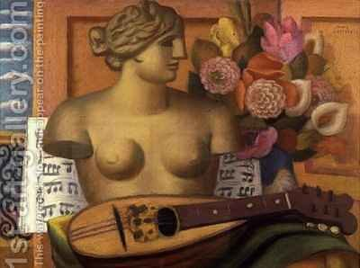 Homage to Roger Fry by Mark Gertler - Reproduction Oil Painting