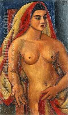 The Sari by Mark Gertler - Reproduction Oil Painting