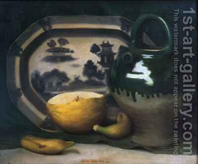 Still life with melon by Mark Gertler - Reproduction Oil Painting