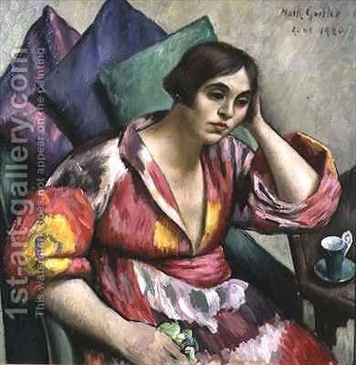 The Bokhara Coat by Mark Gertler - Reproduction Oil Painting
