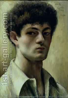 Self Portrait by Mark Gertler - Reproduction Oil Painting