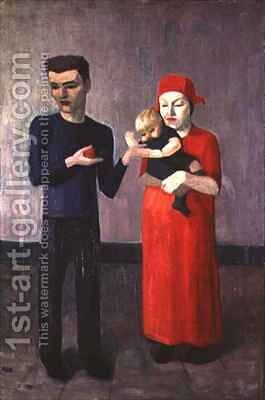 Family Group by Mark Gertler - Reproduction Oil Painting