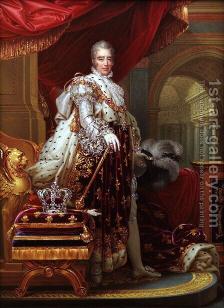 Charles X 1757-1836 by Baron Francois Gerard - Reproduction Oil Painting