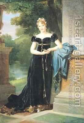 Portrait of Marie Laczinska 1786-1817 Countess Walewska by Baron Francois Gerard - Reproduction Oil Painting