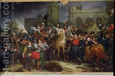 The Entry of Henri IV 1553-1610 into Paris by Baron Francois Gerard - Reproduction Oil Painting