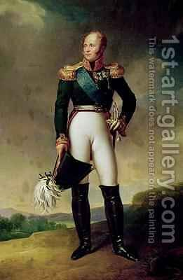 Portrait of Alexander I 1777-1825 by Baron Francois Gerard - Reproduction Oil Painting