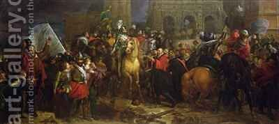 The Entry of Henri IV into Paris on 22 March 1594 by Baron Francois Gerard - Reproduction Oil Painting
