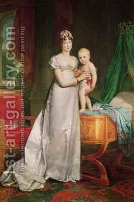 Marie Louise 1791-1847 and the King of Rome 1811-32 by Baron Francois Gerard - Reproduction Oil Painting