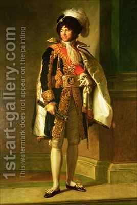 Portrait of Joachim Murat 1767-1815 King of Naples 1808-15 by Baron Francois Gerard - Reproduction Oil Painting