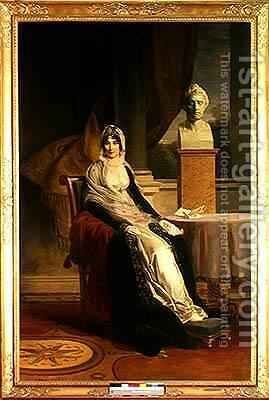 Marie Laetitia Ramolino 1750-1836 by Baron Francois Gerard - Reproduction Oil Painting