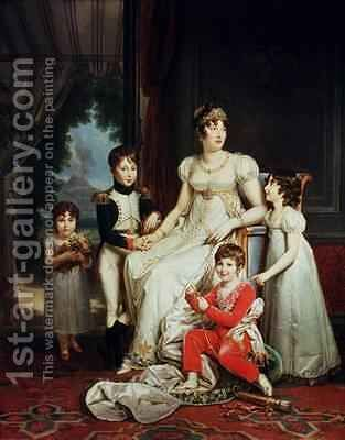 Caroline Bonaparte 1782-1839 and her Children by Baron Francois Gerard - Reproduction Oil Painting