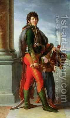 Joachim Murat 1767-1815 2 by Baron Francois Gerard - Reproduction Oil Painting