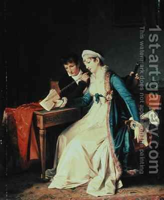 The Music Lesson by Baron Francois Gerard - Reproduction Oil Painting
