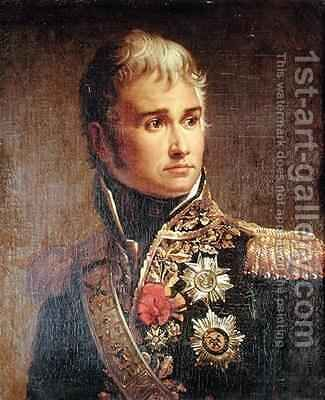 Portrait of Jean Lannes 1769-1809 Duke of Montebello by Baron Francois Gerard - Reproduction Oil Painting