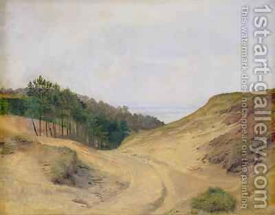 The Narrow Pass at Blankenese by Jacob Gensler - Reproduction Oil Painting