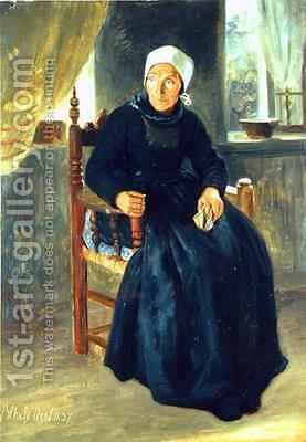 A Woman from Blankenese by Jacob Gensler - Reproduction Oil Painting