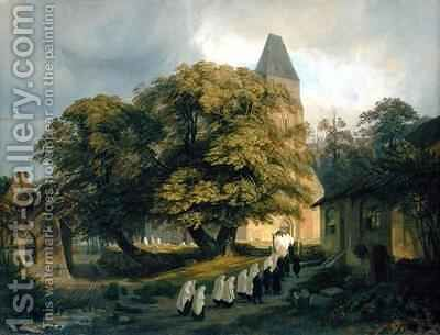 Elstorf Churchyard near Hamburg by Jacob Gensler - Reproduction Oil Painting