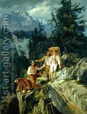 Tirolese Smugglers by Jacob Gensler - Reproduction Oil Painting