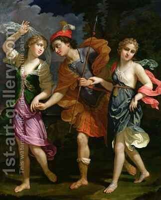 Theseus with Ariadne and Phaedra by Benedetto Gennari - Reproduction Oil Painting