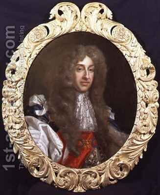 Portrait of James II 1633-1701 in Garter robes by Benedetto Gennari - Reproduction Oil Painting