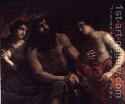 Pluto Orpheus and Eurydice by Benedetto the Elder Gennari - Reproduction Oil Painting