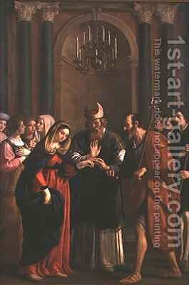 Marriage of the Virgin by Bartolomeo Gennari - Reproduction Oil Painting
