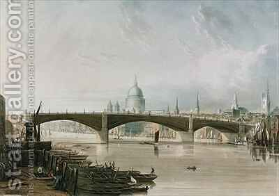 Southwark Iron Bridge as seen from Bankside by (after) Gendall, John - Reproduction Oil Painting