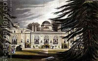 Garden front of Chiswick House by (after) Gendall, John - Reproduction Oil Painting