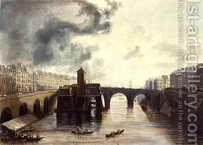 Pont Notre Dame from Views on the Seine by (after) Gendall, John - Reproduction Oil Painting