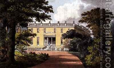 Nutwell Court from Ackermanns Repository of Arts by (after) Gendall, John - Reproduction Oil Painting