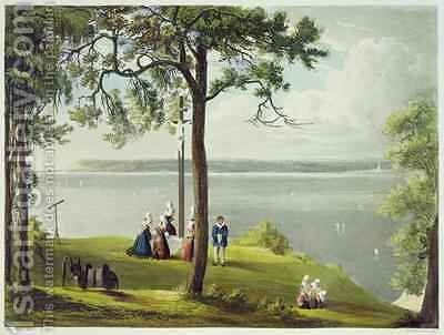 Mouth of the Seine from Views on the Seine by (after) Gendall, John - Reproduction Oil Painting