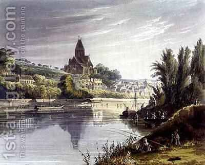 Triel from Views on the Seine by (after) Gendall, John - Reproduction Oil Painting