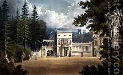 Deepdene from Ackermanns Repository of Arts by (after) Gendall, John - Reproduction Oil Painting