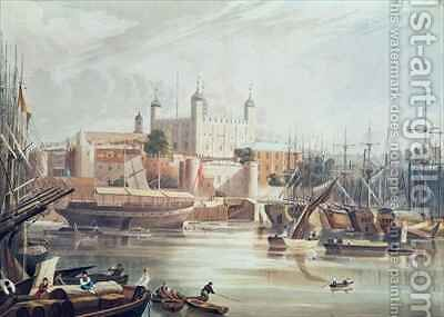 View of the Tower of London by (after) Gendall, John - Reproduction Oil Painting