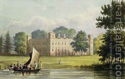 Sion house from R Ackermanns 1764-1834 by (after) Gendall, John - Reproduction Oil Painting