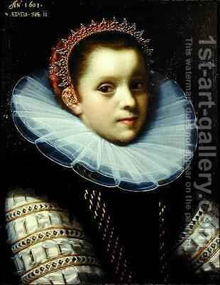 Portrait of a Young Girl Wearing a Ruff by Gortzius Geldorp - Reproduction Oil Painting