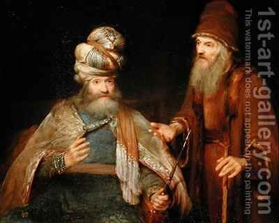 Nathan admonishes King David by Aert De Gelder - Reproduction Oil Painting