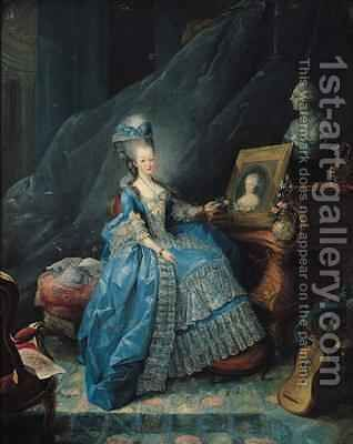 Marie Therese de Savoie 1756-1805 by Jean Baptiste Andre Gautier D'Agoty - Reproduction Oil Painting