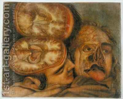 Cross section of the Brain by Jacques - Fabien Gautier - Dagoty - Reproduction Oil Painting