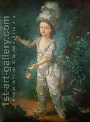 Portrait of the Dauphin by Jacques - Fabien Gautier - Dagoty - Reproduction Oil Painting