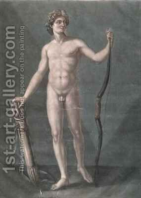 Apollo the ideal anatomy by Arnauld Eloi Gautier DAgoty - Reproduction Oil Painting