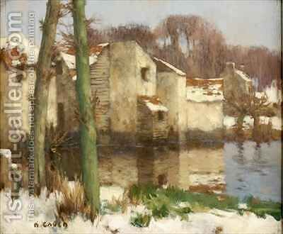 Winter in Normandy 2 by David Gauld - Reproduction Oil Painting